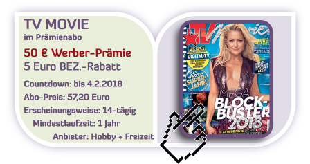 top tv movie mit 50 werber pr mie und 5 bez rabatt und tv abo preis angebot du movie. Black Bedroom Furniture Sets. Home Design Ideas